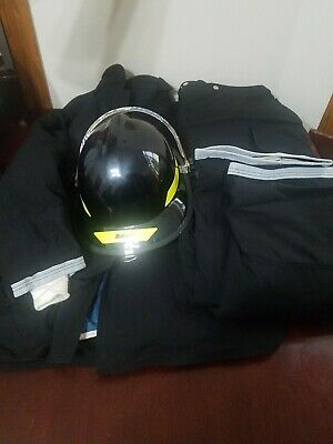 New Globe fire Coat 48-35 & Fire pants 46-30 Bullard Helmet 6.5- 8 2003 model