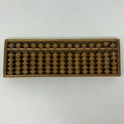 Antique Wood Handcrafted Chinese Or Japanese Abacus Handmade EUC
