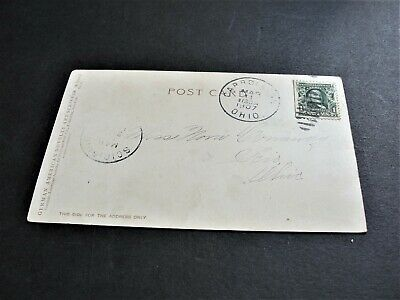 1907 Easter Greetings- Ben Franklin One Cent- Printed in Germany Postcard. RARE.