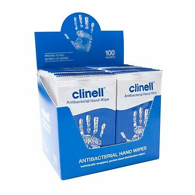 Clinell CAHW100 Antimicrobial Hand Wipes x 100