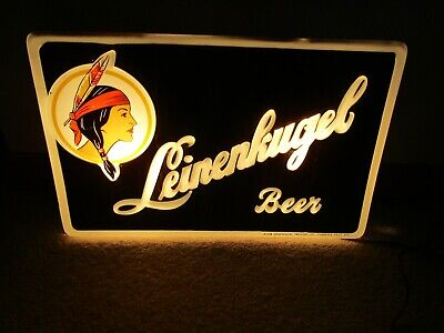 1950's LEINENKUGEL beer lighted sign RARE ONE! Chippewa Falls Wisconsin