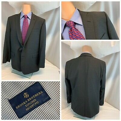 Brooks Brothers Explorer Blazer Regent Fit 44R Gray Wool Poly LNWOT YGI C0-772