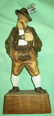 "LARGE 19"" Hand Carved German MAN statue figurine Sculpture Germany DETAILED"