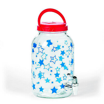 Patriotic Glass Sun Tea Jug - 1 Piece