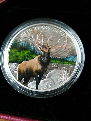 2015 RCM Majestic Elk Silver $20 Colourised Coin, No Reserve!
