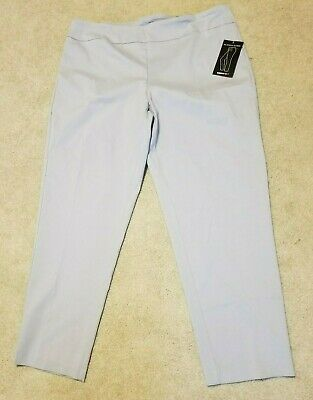 AVENUE~Light Gray~SUPER-STRETCH~Tumnmy Control PULL-ON  PANTS~WOMENS 18 NWT