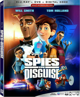 Spies In Disguise (Blu-ray + DVD + Digital) New - Includes Slipcover BRAND NEW