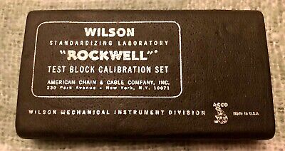 Rockwell Test Block By Wilson N30N48.2 And 71-R11469 In Case