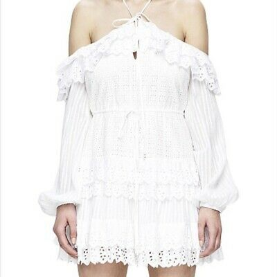Alice McCall White Love of Mine Dress, Size AU 6, US 2.