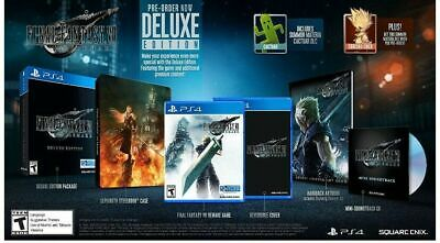 Final Fantasy VII 7 Remake Deluxe Edition PS4 Playstation 4 + Steelbook Art Book