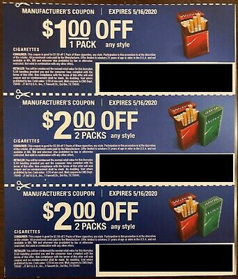 $15.00 Off WAVE Cartons of Cigarettes Carton Packs Pack Tobacco (exp. 5/16/20)