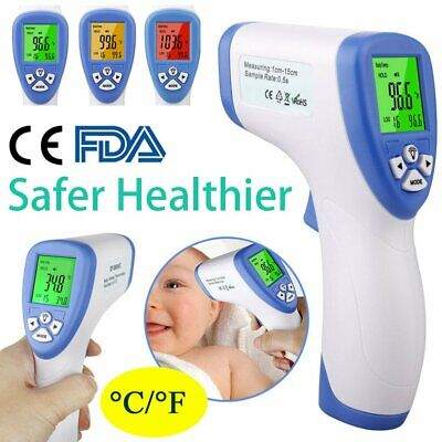 LCD Digital  Baby  Infrared Thermometer Forehead Non Contact Test Body Temp NEW