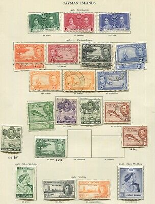 Cayman Islands KGVI on pages