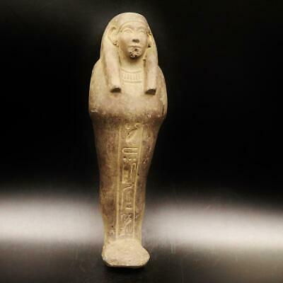 XL_RARE Antique Egyptian Faience Ushabti (Shabti) Statue Figure....ANCIENT EGYPT