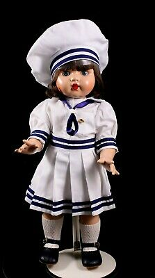 "Mariquita Perez 18"" Vinyl Jointed Doll MARINERA in Sailor Suit  From Spain 1998"
