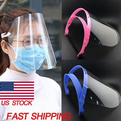 Safe Anti-fog Full Face Shield With Clear Face Transparent Work Industry Dental~
