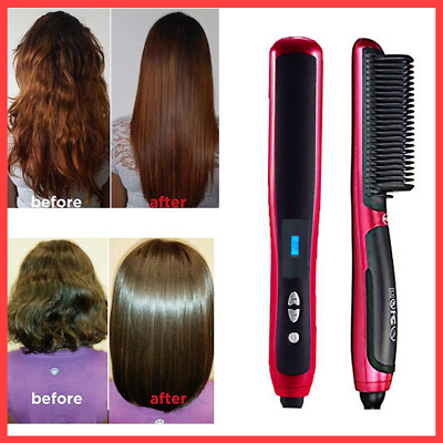 2 IN 1 Hair Straight Styler NEW Fashion Straight hair comb LCD Disply