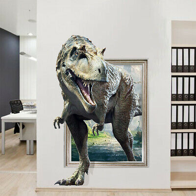 3D Dinosaur Wall Sticker Boys Kids Bedroom Removable Art Decal Mural Wallpaper
