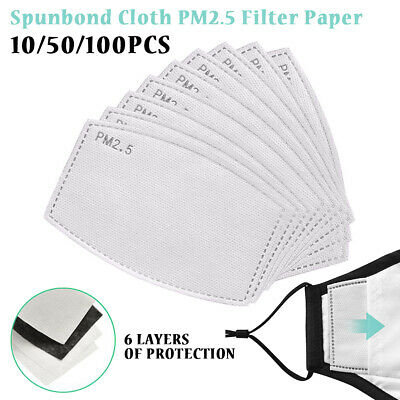 10~50X Activated Carbon Filter for Face Mask Replace Breath Insert UK