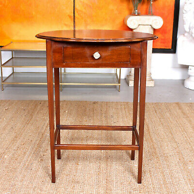 Antique Oak Side Table Arts & Crafts Fitted Drawer Console Table