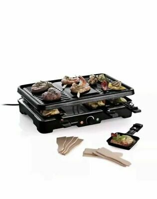 German Raclette Grill 37 x 22cm 1200W For grilling cooking meat fish vegetables