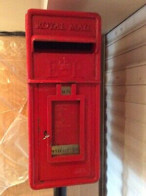 Genuine post office royal mail post box With Chubb Lock And Wire Tray