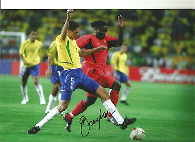 Edmilson Autograph Brazil Signed 12 x 8 inch authentic football photo SS1101A