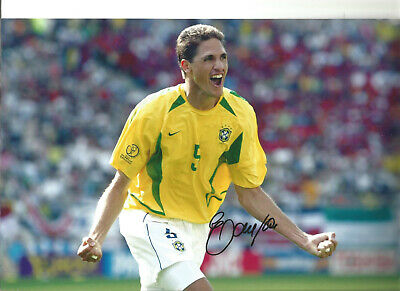 Edmilson Autograph Brazil Signed 12 x 8 inch authentic football photo SS1101B