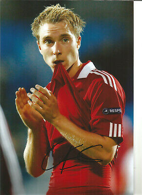 Christian Eriksen Denmark Signed 12 x 8 inch authentic football photo SS1111