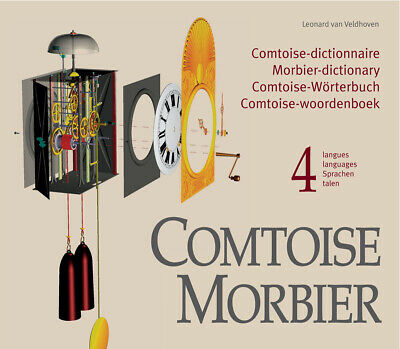 COMTOISE MORBIER, dictionary all parts French grandfather clocks + 6x3D-drawings