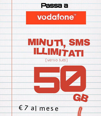 Passa A Vodafone Unlimited Min Sms Illim 50Gb Tre Ho Very Mobile Tim Wind Coop