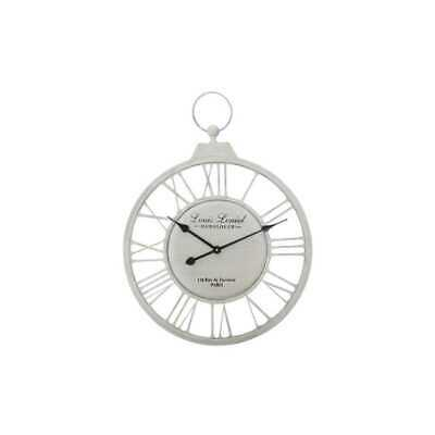 Reloj de Pared Reloj Louis 79x58x5cm Blanco Antiguo Metal My Flair