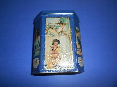 """Antique Coca Cola Hexagon Blue Tin """"Drink Of All The Years""""-6'' X 5''"""