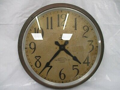 Large vintage industrial metal factory railway wall clock. Circa 1920