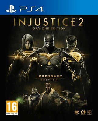 Injustice 2 Legendary Edition Day One Edition PS4 NEW DISPATCHING ALL BY 2 P.M.