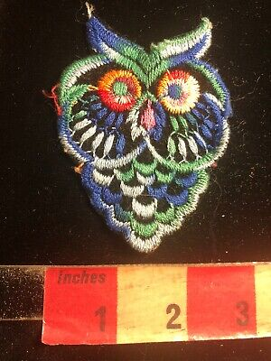 Vintage Many Colored OWL Patch 03RK