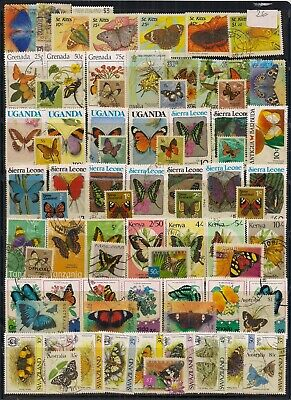 Commonwealth Butterfly's-Super Selection Of 75 Fine Used Stamps.very Nice Lot.