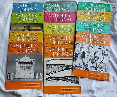 THE ANTIQUES JOURNAL 1950's And 60's 14 pc Lot Antique Collection Large Magazine