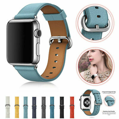 NEW For Watch iWatch Band 40mm 44mm Series 4/3/2/1 Genuine Leather Wrist Strap