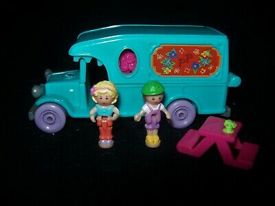 EUC 100% Complete Vintage Polly Pocket Flower Cafe on the Go 1996