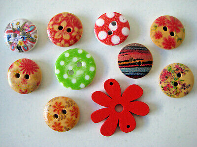 Scrapbooking Or Card Making Embellishments - Buttons - 10 Pack
