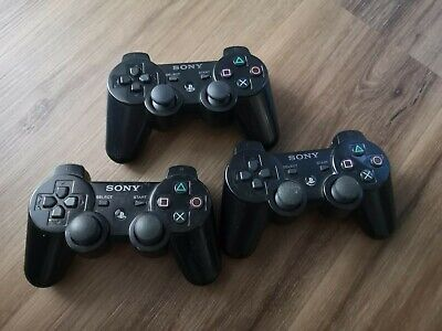 Official Genuine Sony PS3 Playstation 3 DualShock 3 X2, Six Axis x1 Controllers