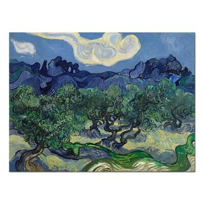 Canvas Print Picture Wall Art Van Gogh Painting Repro Home Decor Olive Trees