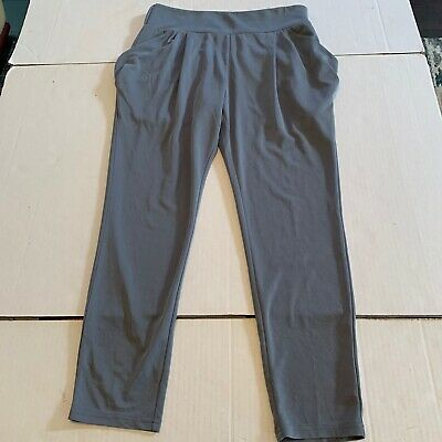 Free People Slate Blue Womens Ankle Pull-On Stretch Athletic Leggings Pants S