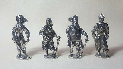 Four English Civil War Figures in Fine Pewter