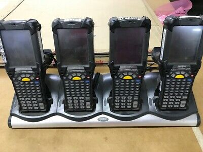 Lot Of 4 Symbol Motorola MC9090 Barcode Mobile Scanners with Charger