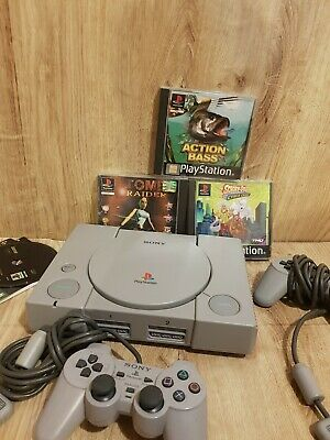 Sony Playstation 1 (PS1) Console Bundle: 2×Official Controllers ,4 Games Tested