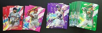 2020 Topps Inception Parallel Green Purple Red Magenta You Pick Complete Ur Set