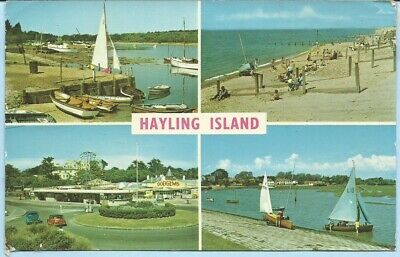 🌞 MULTI-VIEW of HAYLING ISLAND. posted 1970. (#1981)