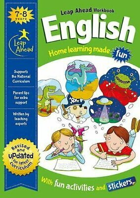 KS1 ENGLISH Leap ahead Home Learning Workbooks For Kids Age 7-8 years New